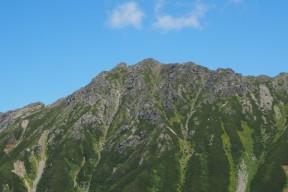 圧巻の水晶岳