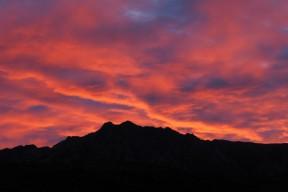 朝焼けの水晶岳