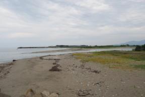 日本海にそそぐ黒部川