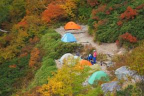 針ノ木峠のテント場