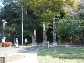 9:10   石の公園 この先が登山口
