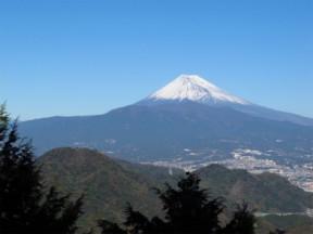 静岡県からの富士山。雪が少ないかな