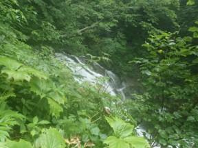 高巻き中。6mぐらいの滝