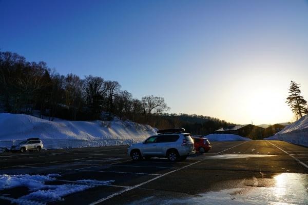 朝の御池駐車場