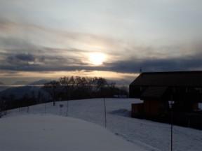 ゴールの毛無山で夕日を見てよかった。