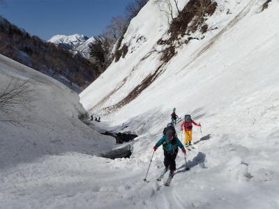 黒沢の滝の高巻き